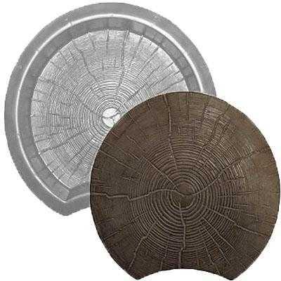 Форма для тротуарной плитки «Пенёк» 300*300*50