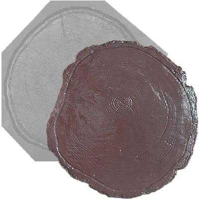 Форма для  плитки «Плита спил дерева» 450*450*45