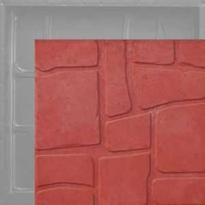 Форма для тротуарной плитки «Галька крупная» 300*300*30