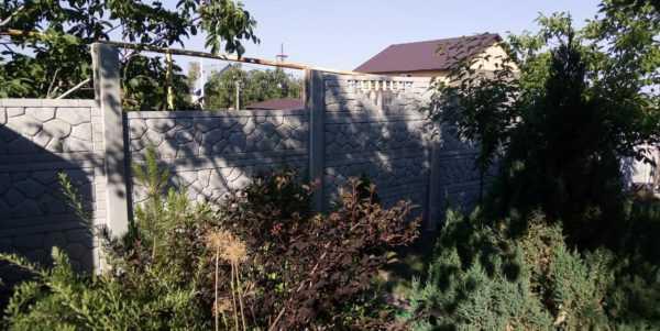 Забор бетонный  панель «Старый город»  1940*490*40