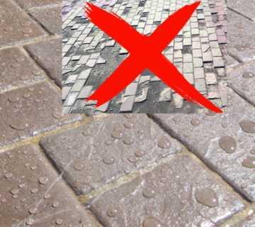 Как защитить тротуарную плитку
